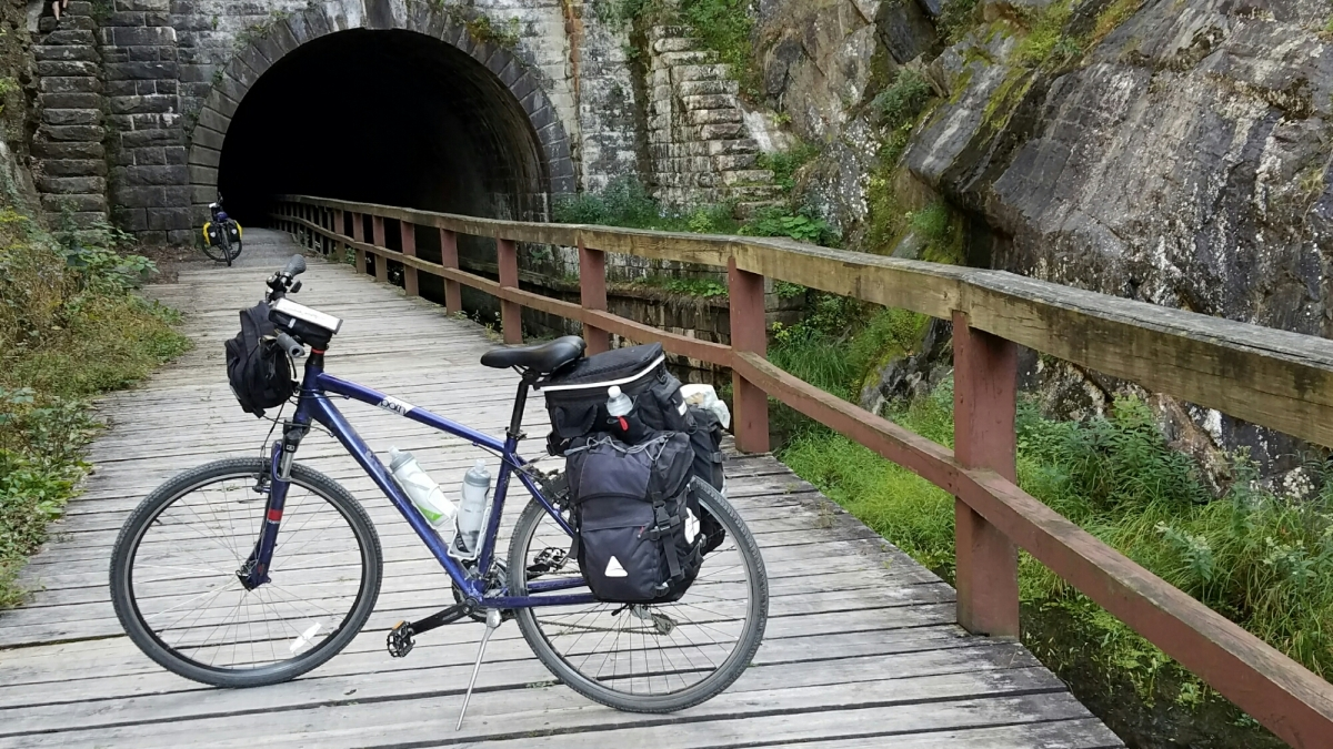 Biking the GapC&O, Tuesday, to Paw Paw,WV